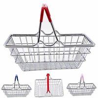 Children's Mini Metal Supermarket Shopping Basket Pretend Role Play Kids Toy