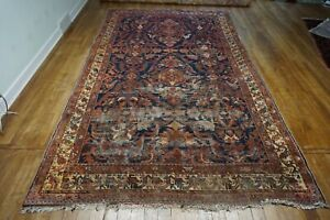 """Antique Persian Malayer Distressed Rug 6'5""""x10'10"""""""