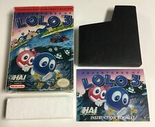 Adventures of Lolo 3 Original Nintendo NES CIB Box and Manual Only No Game