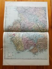Early 20th century map Bacons Geographical Establishment Ireland