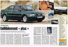 Publicité Advertising 1997 (2 pages) Audi A4 Pack Plus