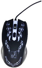 Real Max. 1200 DPI Optical Adjustable Wired Gaming Game Mice Mouse for Laptop PC