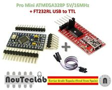 Pro Mini ATMEGA328P 5V/16MHz + FTDI FT232RL USB to TTL Serial Converter