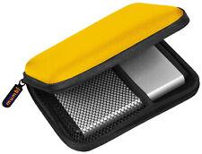 mumbi externe Festplattentasche 2,5 Zoll Tasche für Festplatten Hülle Case gelb