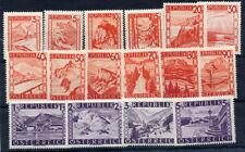 AUSTRIA 1947 Landscape definitives in changed colours  MNH/**