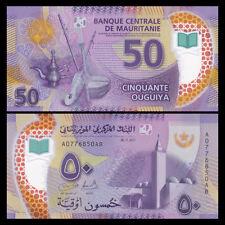 Mauritania 50 Ouguiya Banknote, 2017/2018, P-New Design, UNC, Africa Paper Money
