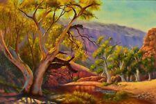 Original oil Australian outback landscape painting Ormiston Gorge, NT