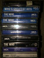 LOT OF 11 THE WHO CASSETTE TAPES W/2 GREATEST HITS MUST SEE LOOK!!!