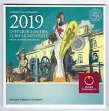 KMS, Eurokursmünzensatz 2019 aus Österreich, handgehoben, original, st, BU