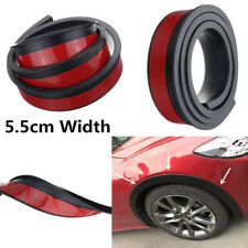 2x 55mm Width Wheel Arch Black Rubber Car Fender Flares Moulding Strip Universal
