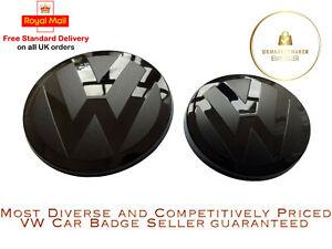 VW Volkswagen Golf MK7 Badge Front and Rear Smooth Black 2013-2017 GTI GTD R GTE