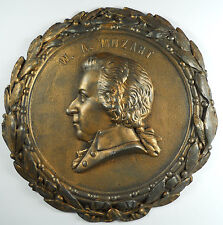 Music WOLFGANG AMADEUS MOZART Composer wall plaque