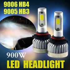 LED Headlight Pair 9006 HB4 9005 HB3 Car Bulbs 900W 135000LM COB kit 6500K White