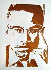 Malcolm X Stencil/Template Reusable 10 mil Mylar Stencil