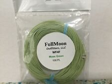 Wf4F Moss Green 100ft Fly Line + Free 10-Pack of Tippet Rings & Tapered Leader!