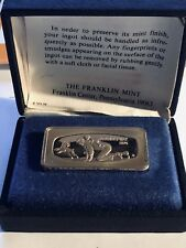 1974 Franklin Mint 1000 Grain Solid Sterling Silver Father Day Ingot With Box