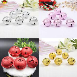 10pcs Small Jingle Bells Charm Christmas Pendant Decoration Ornaments DIY Craft