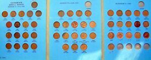 1920 TO 1968 CANDIAN SMALL CENT ONE PENNY COLLECTION COMPLETE SET IN ALBUM