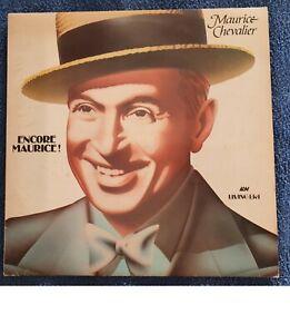 "MAURICE CHEVALIER : ENCORE MAURICE! 12 "" Vinyl LP Excellent Condition"