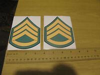 US Army National Guard Rank Staff Sergeant e6 nco Bumper Sticker Decal
