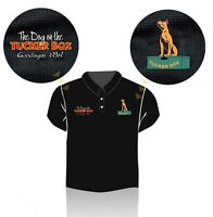 The Dog on the Tuckerbox Polo Shirt - size Large