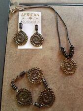 Fair Trade Handmade Cheetah Tail Jewelry Set (necklace, bracelet, earrings)