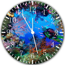 Tropical Ocean Fish Frameless Borderless Wall Clock Nice For Gifts or Decor Z147