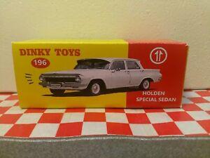 Dinky Toys 196 Holden  EJ  Sedan EMPTY Repro CUSTOM WHITE BOX ONLY     NO CAR
