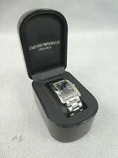 Emporio Armani Ceramica Men's Wristwatch Silver Analogue Watch Display Box Used