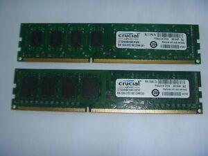 Crucial 8GB (1x8GB) RAM Memory Desktop PC3-12800u DDR3 1600 1.5V CL11