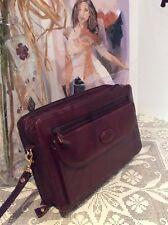Brandio diseñador italiano ~ Cuero Bolso de Mano Clutch Bag ~ iPad/Tablet Estuche de viaje