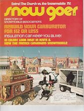 JAN 1972 SNOW GOER snowmobile magazine