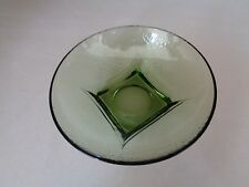 Vintage Green Glass Bowl Candy Dish With Square Base (Cat.#5B007)