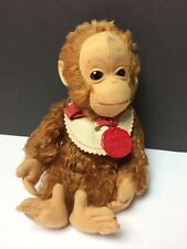 "Vintage 9"" Schuco Mohair Tricky Yes No Monkey w/Bib & Tag"