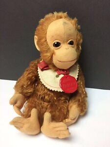 "VINTAGE 9"" Schuco Mohair Tricky Yes No Monkey w/Bib & Tag"