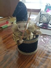 Vintage Animated Porcelain Clown Jester San Francisco Music Box Company