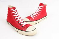 Vintage 80s CONVERSE All-Star Chuck Taylor Red Hi USA Mens Size 10.5