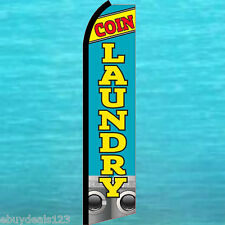 Coin Laundry Swooper Flag Tall Flutter Feather Advertising Sign Banner 25-3018