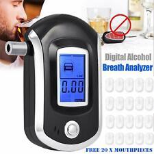 LCD Alkoholtester Promilletester Polizei Fahren Alkohol Tester mit 20 Mundstücke