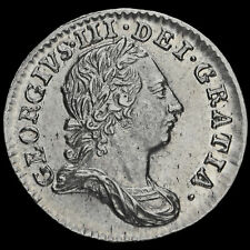 More details for 1763 george iii early milled silver maundy threepence