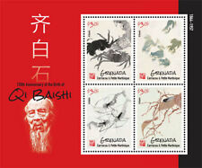 Grenada - 2014 Qi Baishi Stamp - Sheet of 4 MNH