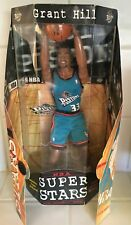 "GRANT HILL - NBA Super Stars - Detroit Pistons - 13"" Action Figure - 1999 - NEW"