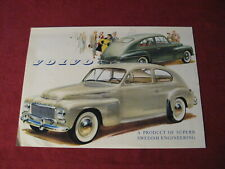 1958? Volvo Sales Sheet Brochure Booklet Catalog Old Original Book