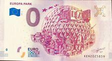 BILLET 0 EURO SOUVENIR TOURISTIQUE EUROPA PARK  2018-3