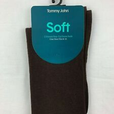 Tommy John SOFT Ultimate Stay-Up Dress Socks Men's Size 8-13 Chocolate Brown