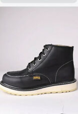 New With Box Top Quality Leather moc soft toe Work Boots made in Mexico Black