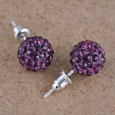 Aretes Bola de Cristal con Diamantes Colores Para Mujer y Niña ~ Women Earrings