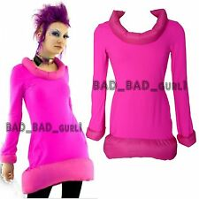 CYBERDOG PINK Snow Moon Futuristic Punk Goth Party Rave Cyber Fluorescent Dress