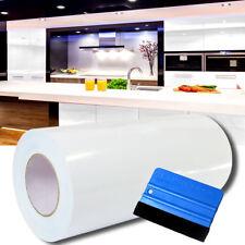 (2,7€/m²) 10m Hochglanz Weiß Plotterfolie + Rakel Klebefolie 63cm Breite Folie