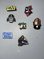 Star Wars Lot 7 Shoe Charms,bracelet & Lace Adapter Charms,Yoda & More Fit Crocs